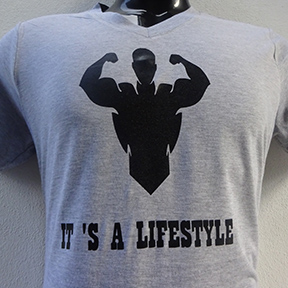 Its A Lifestyle - Grey T Shirt