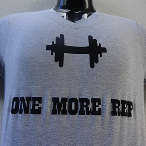 One More Rep - Grey T Shirt