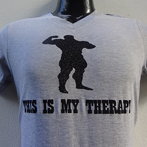 This Is My Therapy - Grey T Shirt